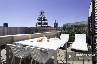 The Attic Terrace View Apartment in Barcelona