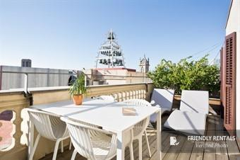 The Attic Terrace Apartment in Barcelona