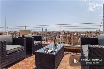 The Gran Via Attic II Apartment in Barcelona
