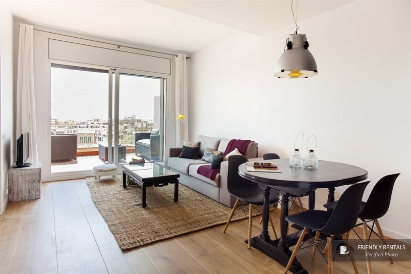 City center apartment in Barcelona with terrace