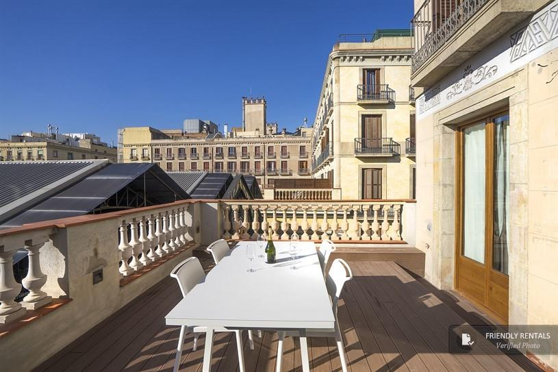Holiday Apartment with terrace in Ramblas - Boqueria (Barcelona)